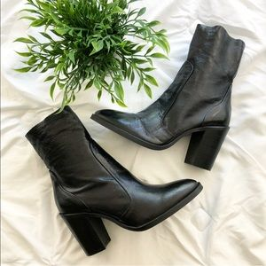 New Top Shop Patent Leather Heeled Ankle Boots